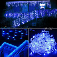 US Connectable 96-1500 LED String Lights Icicle Hanging Curtain Fairy Xmas Decor