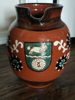 Beautiful Vintage Signed Large Pottery Pitcher