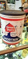 Vintage LG 5gal Farm Farmer Peets Shorting Pig Michigan Can Sign W/ Gr8 Graphic