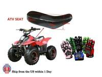 Replacement ATV Seat Kids Gloves for 50 90cc 70cc 110cc Coolster Quad 4 Wheeler
