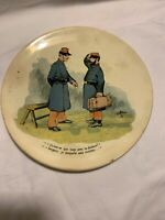 Antique French Plate Sarreguemines Pottery