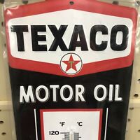 TEXACO GAS & OIL  GASOLINE  THERMOMETER METAL SIGN SHOP MAN CAVE
