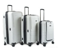 TJET JAPAN  JET LUGGAGE SET 3 PC BRAND NEW   Classic white