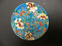 AN ANTIQUE  FRENCH LONGWY POTTERY PLATE WITH CHINOISERIE DECORATION
