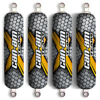 Yellow X Can Am Shock Covers Bombardier Renegade Outlander 400 500 650 800 1000