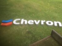 Large CHEVRON OIL GAS Lighted Letters Sign [2007]
