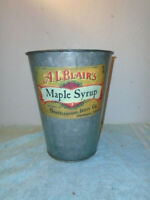 Antique A.L. Blairs Brattleboro Jelly Co. Maple Syrup metal bucket can