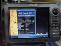 LOWRANCE HDS-10 Gen2 Fishfinder / Chartplotter Combo without Transducer, Insight
