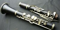 Interesting Simple system Wooden clarinet with white rollers