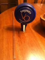 Vintage  Seagram's VO  Pump Top With Glass Rod Insert