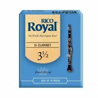 Rico Royal Bb Clarinet Reeds Strength  3.5 ( 3 1/2 ) 10-Reed Pack RBB1035