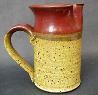 Bill Coombs Pleasureville Art Pottery Virginia Pitcher Ceramic Signed