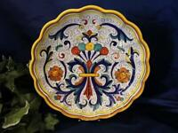 Deruta Italy Italian Pottery Ricco Scalloped Serving Bowl