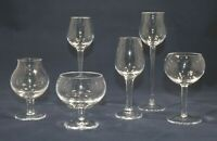 MOSER SET 6 AFTER DINNER MINI SNIFFERS WINE CORDIALS ART GLASS NO BOX VINTAGE