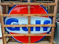 6 FT. GULF GAS SERVICE STATION LIGHTED SIGN ADVERTISING GAS-OIL EXCELLENT NOS
