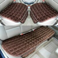 3pcs Universal Car Seat Cover Mat Velvet Rear Front Auto Chair Cushion Protector