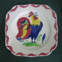 Blue Ridge  SOUTHERN POTTERIES ~ Square Plate ~  ROOSTER