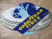 GOODYEAR TIRES GLOBE VINTAGE PORCELAIN SIGN 37 X 23 INCHES
