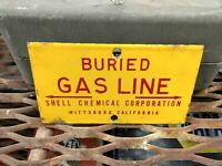 Porcelain Shell Chemical Pipeline Oil Well Lease Sign