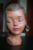 Vintage Life Size 1930s Female Mannequin Head - Freckles African Ethnic Biracial