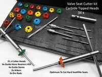 BIKES,ATV ,GO KART HEADS VALVE SEAT CUTTER KIT CARBIDE TIPPED 34 PCS ALL IN ONE