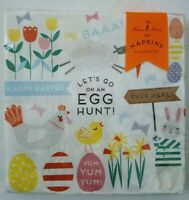 New Easter Napkins quot;FUNNY BUNNYquot; Luxury Spring Party