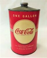 Coca Cola 1930s 1 Gallon Metal Syrup Can with Paper Label - Excellent Condition