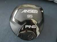 Ping Anser Driver head only RH 9.5 EXC cond w/HC and tool