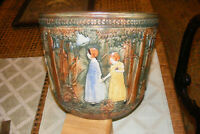 Weller Pottery Forest Flemish Muskota Girls in the Woods Large Jardiniere