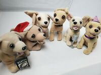 Lot of 6 TACO BELL Chihuahua Dog Stuffed Animal Plush Toy Set Hard to find gift