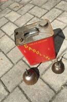 Vintage Metal 2 Gallon Gas Can Edward Can Co. with 2 Vintage Oil Thumb Pump Cans