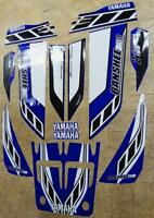 Yamaha banshee quad stickers graphics decal 13pc Special Edition Blue/White ATV