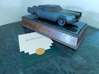 LINCOLN CONTINENTAL MARK III BRONZE ART SCULPTURE DEALER AWARD FORD COMMISSIONED