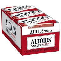 ALTOIDS Smalls Peppermint Breath Mints 0.37 Ounce Tin Pack of 9 Pack of 9
