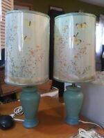 2- Beautiful Van-briggle butterfly lamp's & shade's. Near perfect condition