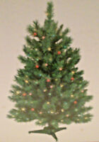 NEW - PRE-LIT CHRISTMAS TREE - 3' MONROE PINE - 100 MULTI CO;OR GE BULBS