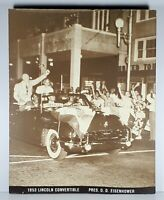 1953 LINCOLN CONVERTABLE Pres. D.D. EISENHOWER Wall Hanging Dealer Display 20x16