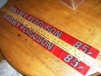 VINTAGE MASSEY FERGUSON  ADVERTISING - MF 85 TRACTOR - 2 HOOD DECALS