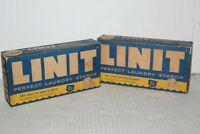 Linit Perfect Laundry Starch Lot of 2 Vintage NOS Brand New Vintage Advertising