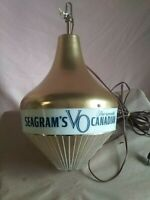 Vintage Seagram's VO The Smooth Canadian Whiskey Tear Drop Rotating Bar Light