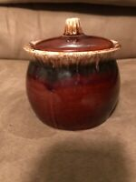 Hull Pottery Brown Drip Bean Pot 4in Cookie Jar Canister Oven Proof Glaze