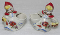 Vintage Hull Little Red Riding Hood Open Sugar Bowl and Creamer