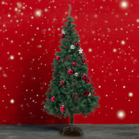 Green 6Ft Artificial PVC Christmas Tree W/Stand Holiday Season Indoor Outdoor