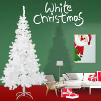 White 6Ft Artificial PVC Christmas Tree W/Stand Holiday Season Indoor Outdoor