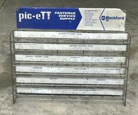 Vintage Pic-ett Fastener Display Rack, Hardware Store Retail Display