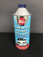 Oil Can Whiz Windshield Washer Antifreeze 1 Pint Tin 1950's Made In Canada Empty