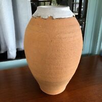 Frank Willett Studio Pottery Stoneware Large Thrown Vase Wabi Sabi Edge Santa Fe