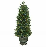 GE 4.5 ft Just Cut Norway Spruce w/ Multi-Function Color Choice LED Lights
