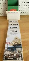 Vintage Original TEXACO Touring Service Map Holder Stand Wall Rack Maps and Card