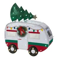Holiday Time Light-up LED Outdoor Camper with Christmas Tree Decoration 28